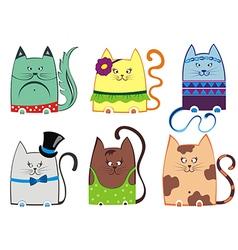Cute cat series vector image vector image