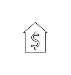 home sale line icon vector image