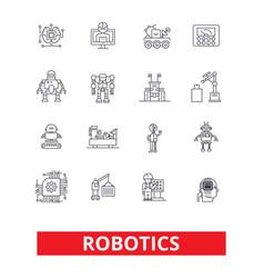 robotics android cyborg robot factory vector image vector image