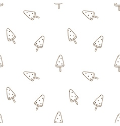 Seamless pattern watermelon ice cream vector image