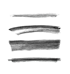 Set of hand drawn chalk marks texture vector image vector image