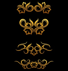 vintage border elements vector image vector image
