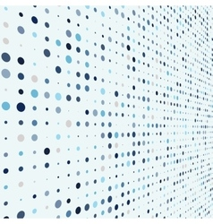 Abstract soft color dots with of depth vector image vector image
