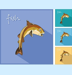 icon with the fish vector image vector image