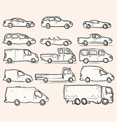 Isolated Vehicle Types vector image vector image