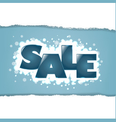 winter sale background with snowflakes vector image