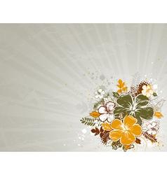 bouquet of hibiscus on beige background vector image vector image