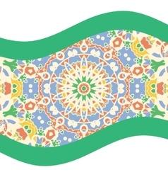 Green and teal mandala art print vector image