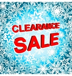 Big winter sale poster with CLEARANCE SALE text vector image vector image