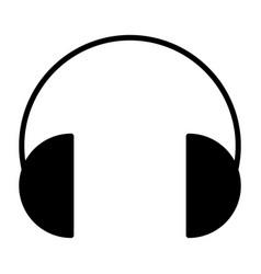 headphones silhouette icon vector image