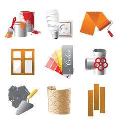 home repair icons set vector image