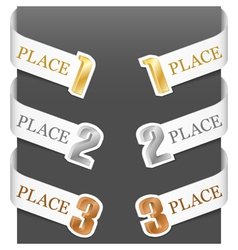 left and right side signs - trophy numbers vector image vector image