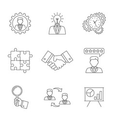 management line icons vector image