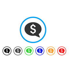 money message rounded icon vector image vector image