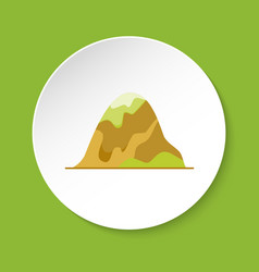 Rounded hill icon in flat style vector