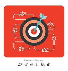 Success Business Concept Icons with Target vector image vector image