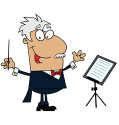 Tan Cartoon Music Conductor Man vector image vector image