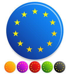 12 stars in circle for award prize or vector image