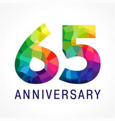 65 anniversary color logo vector
