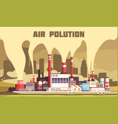 Air pollution poster vector