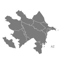 Azerbaijan regions map grey vector