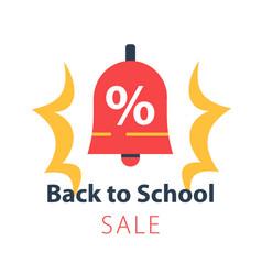 Back to school season sale ringing bel vector