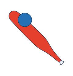 baseball bat and ball equipment image vector image