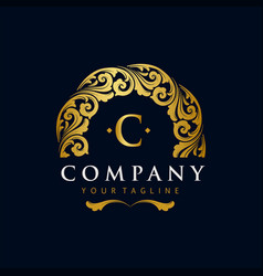 best gold logos ornaments luxury vector image