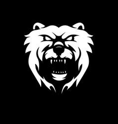 Black and white version a bear design vector
