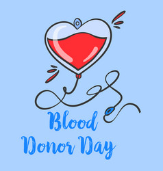 Blood donor day design hand draw collection vector