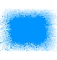 Blue frost frame vector