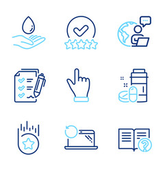 business icons set included icon as medical drugs vector image