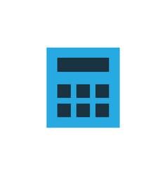 calculator colorful icon symbol premium quality vector image