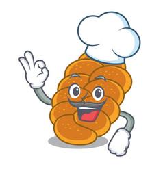chef challah character cartoon style vector image