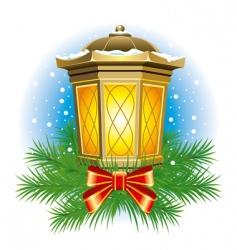 Christmas lantern vector image