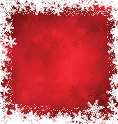 Christmas snowflake border 2011 vector
