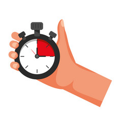 Chronometer time clock stopwatch cartoon vector