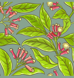 clove pattern vector image