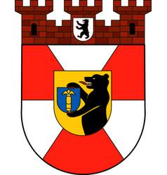Coat of arms of mitte in berlin germany vector
