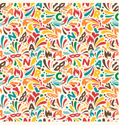 colorful abstract seamless pattern brazilian vector image