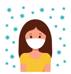 coronavirus 2019-ncov global epidemic novel vector image