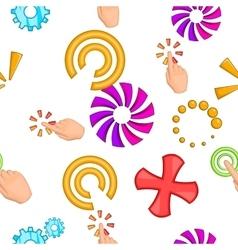 Cursor pattern cartoon style vector image