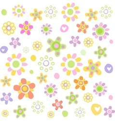 Cute floral ornament vector image