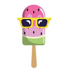 Delicious popsicle cartoon vector
