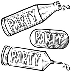 Drugs and alcohol party vector image