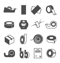 Duct tape set strong waterproof adhesive tape vector