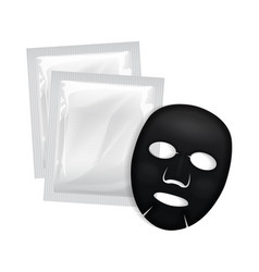 facial black mask cosmetics package vector image