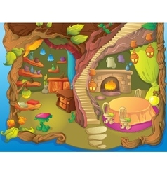 Fairy Diinner Room And Library vector