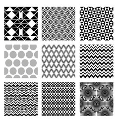 Figures geometrics monochrome set backgrounds vector