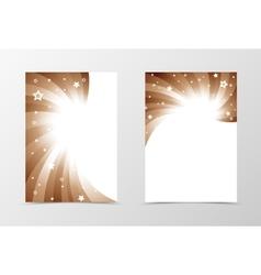 Flyer template swirl design vector